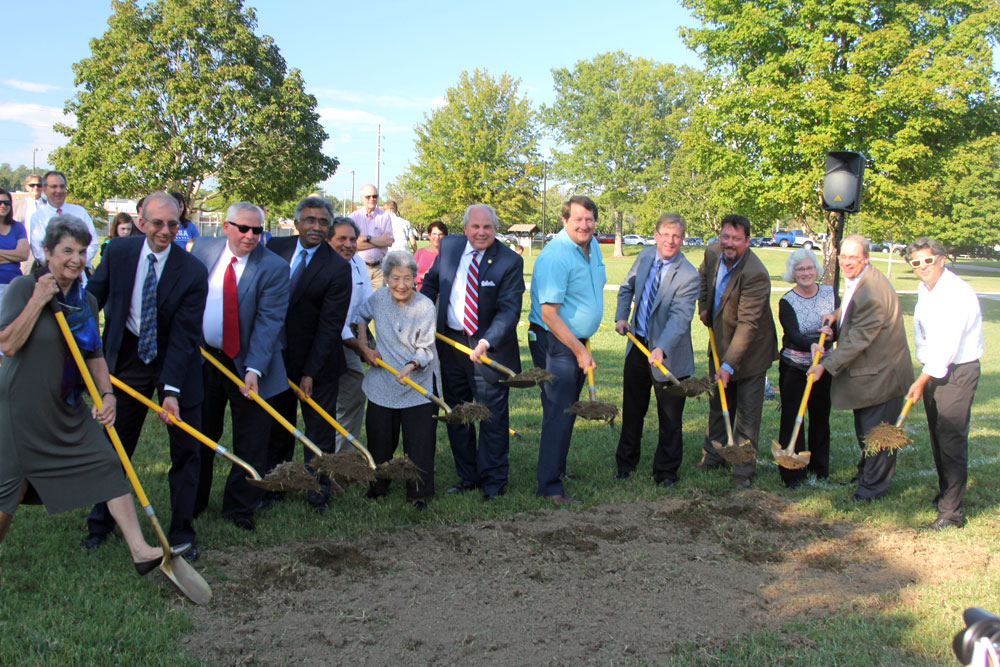 Initial groundbreaking for work on Peace Pavilion site in 2017